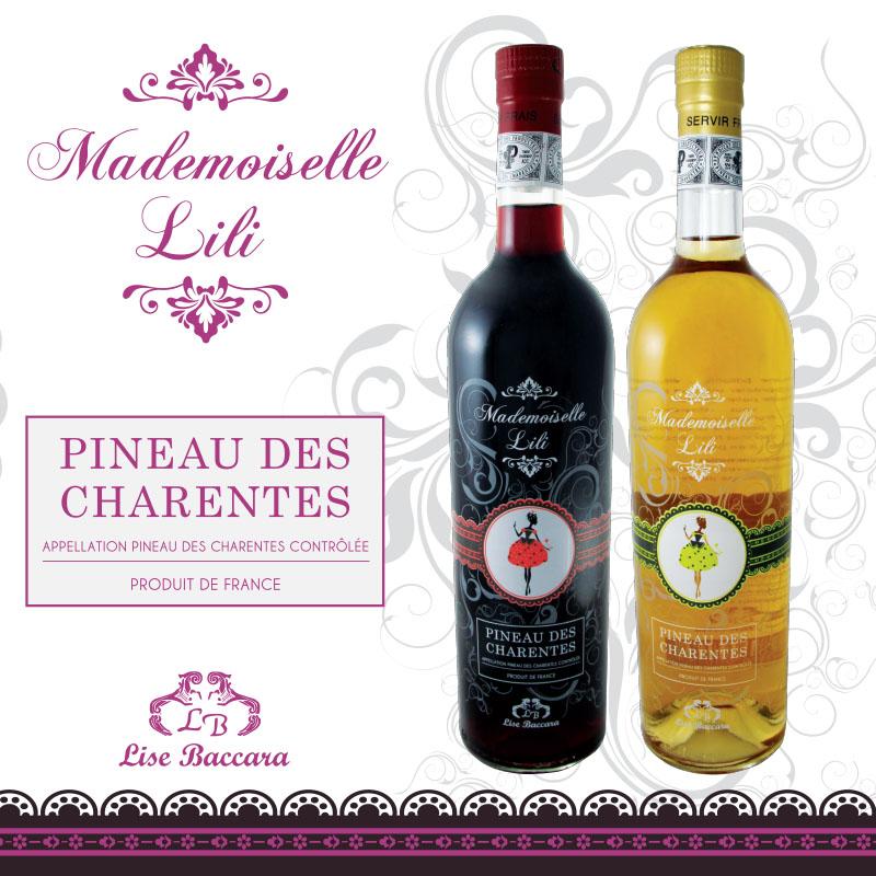 Création Packaging Spiritueux Pineau des Charentes - Lise Baccara By Synap'TIC - à Saintes, Rochefort, Cognac, La Rochelle, Royan, Saint Jean d'Angély, Bordeaux