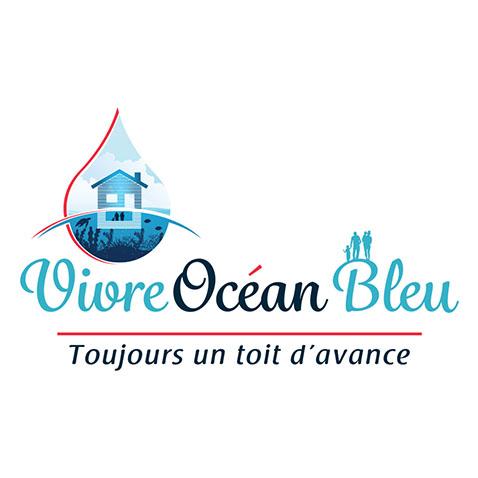 Création logo réseau immobilier Royan - Vivre Océan Bleu by Synap TIC