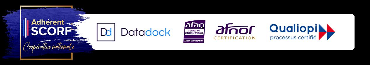 Synap'TIC SCORF Certifications Datadock AFNOR QUALIOPI
